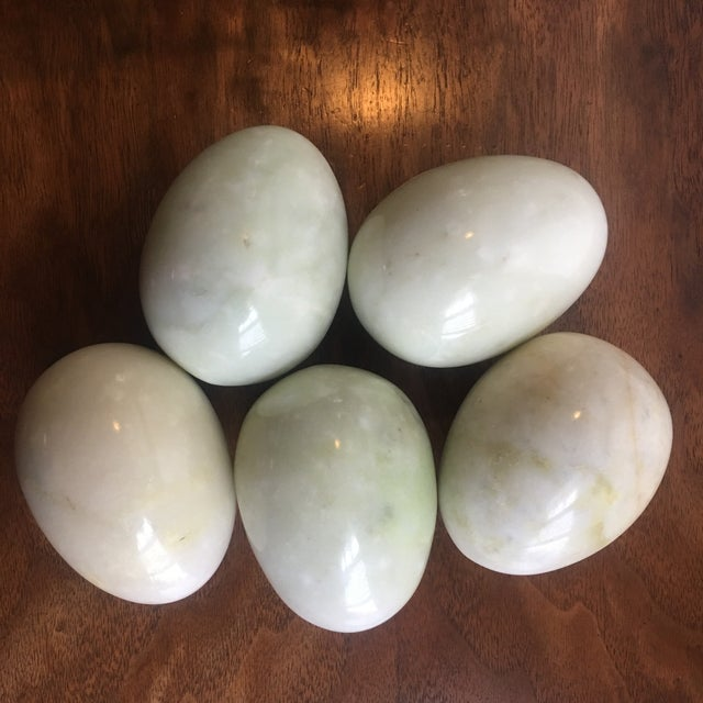 Traditional Large Marble Eggs - Set of 5 For Sale - Image 3 of 5