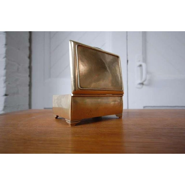 Just Andersen Mahogany Lined Brass Box by Just Andersen For Sale - Image 4 of 7