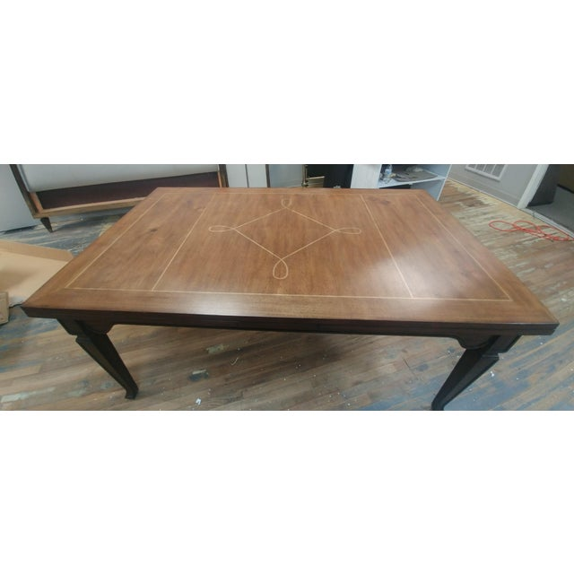 Henredon Furniture Acquisitions European Refectory Walnut Dining Table For Sale - Image 9 of 11