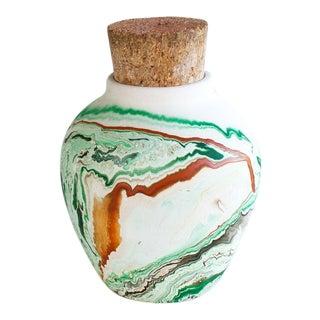 Vintage Nemadji Original Cork Lidded Vase Jar