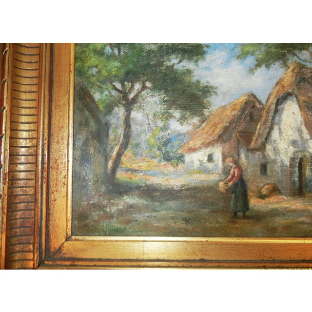 Early 20th Century Antique Argentinian Rural Scene Oil on Canvas Painting For Sale - Image 4 of 8