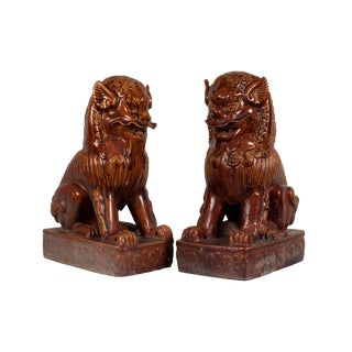 Temple Dogs Statuary- a Pair For Sale