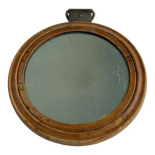 1880 Antique German Shaving Mirror For Sale