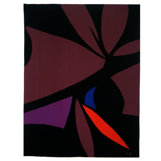 Abstract Jan Yoors, Mexican Pink Tantra, Usa, 1976 For Sale - Image 3 of 3