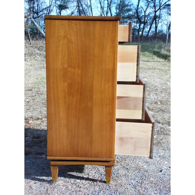 1950s Vintage Mid Century Modern Kent Coffey Walnut Highboy Dresser Chest the Nomad For Sale - Image 5 of 13