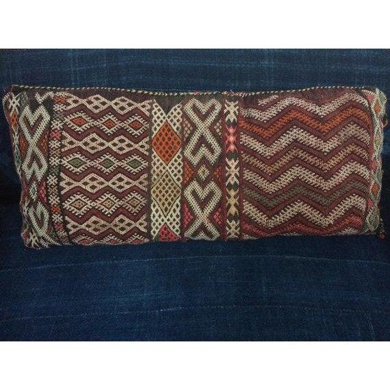 Vintage Moroccan Textile Kilim Pillow - Image 2 of 6