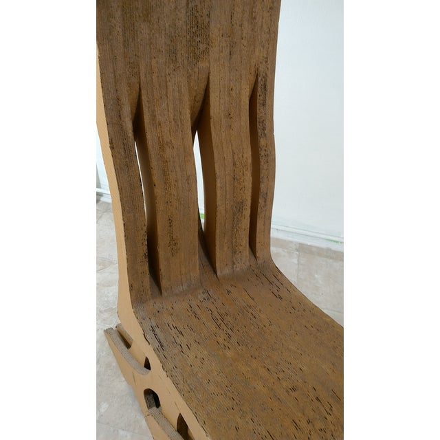 Vintage Cardboard Chair, 1970s For Sale In Los Angeles - Image 6 of 11