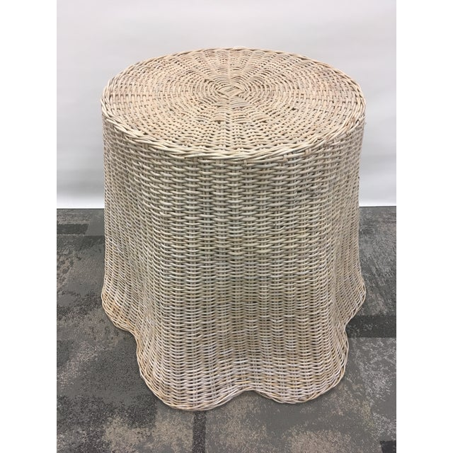 Vintage Draped Wicker Center Table For Sale - Image 11 of 11