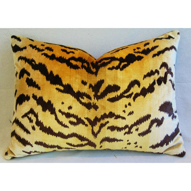 Italian Scalamandre Le Tigre Tiger Stripe & Mohair Pillow - Image 2 of 5
