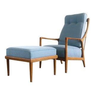Oak Lounge Chair and Ottoman by Jack Van Der Molen For Sale