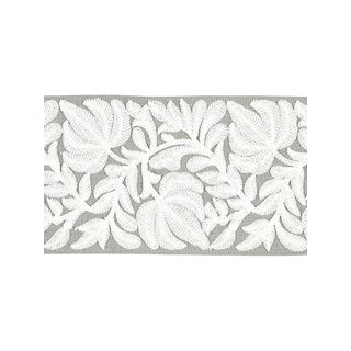 Scalamandre Coventry Embroidered French Grey Tape For Sale