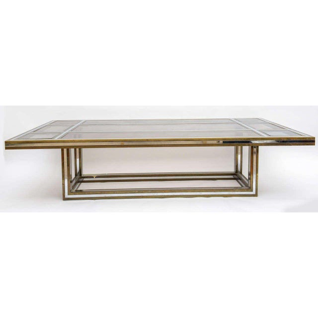 Romeo Rega Brass and Chrome Coffee Table - Image 3 of 5