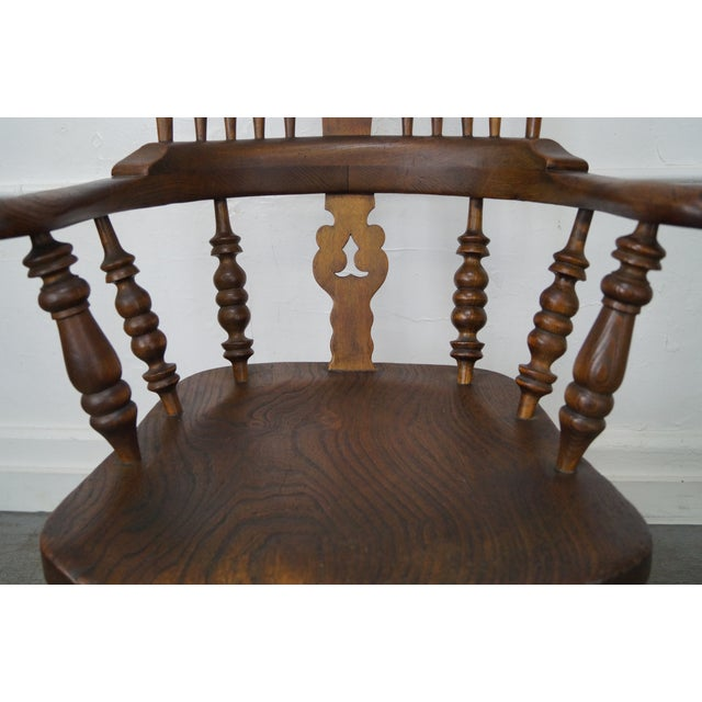 Antique 19th C. English Yew Wood Windsor Arm Chairs - Pair - Image 5 of 10