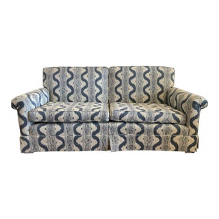 Pierre Frey Upholstered Blue & White Sofa