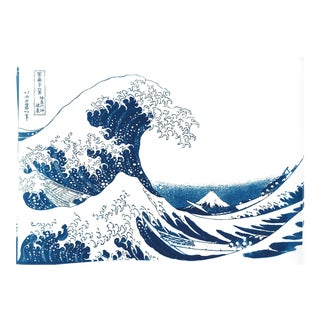 The Great Wave off Kanagawa, Handmade Cyanotype Print on Watercolor Paper, Limited Serie For Sale