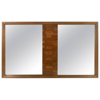 Large Brutalist Mirror For Sale