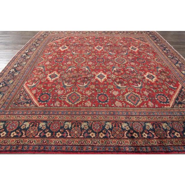 """Apadana - Vintage Mahal Rug, 10'4"""" x 10'7"""" For Sale - Image 5 of 5"""