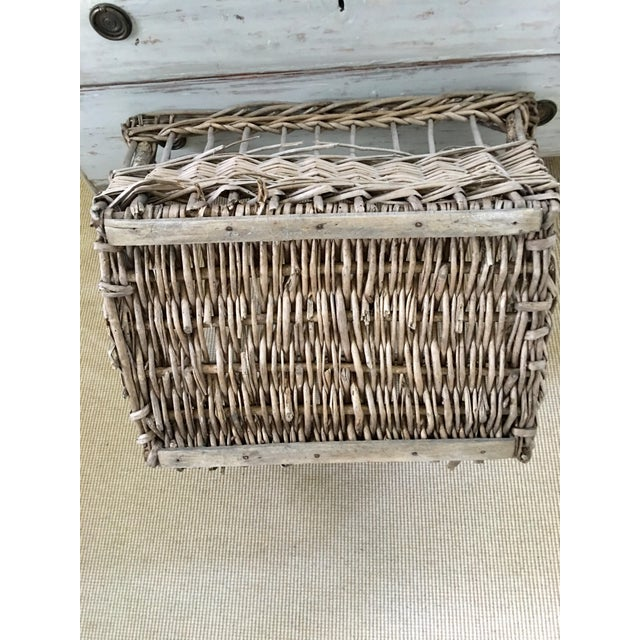 Vintage French Wicker Boulangerie Bakery Bread Basket For Sale - Image 4 of 9