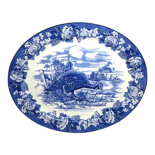 1920s Antique English Pottery Platter For Sale