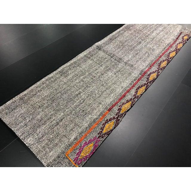 Islamic Vintage Turkish Handwoven Aztec Corridor Kilim Rug - 2′3″ × 7′3″ For Sale - Image 3 of 11