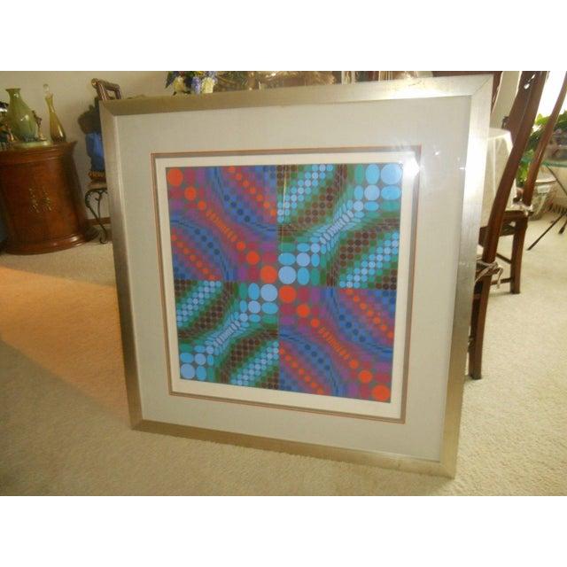 Victor Vasarely Op Art Silkscreen - Image 4 of 8