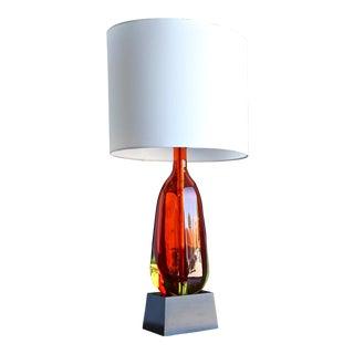 1950s Monumental Flavio Poli for Seguso Murano Glass Table Lamp For Sale