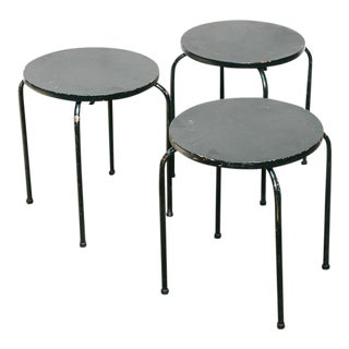 Set of 3 Stacking Stools / Side Tables For Sale