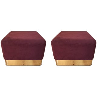 Pair of Milo Baughman Cube Footstools for Thayer Coggin For Sale