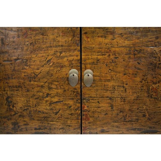 Antique Mongolian 2-Door Cabinet For Sale - Image 4 of 4