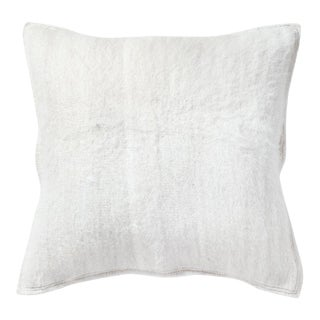 White Llama Textured Pillow For Sale