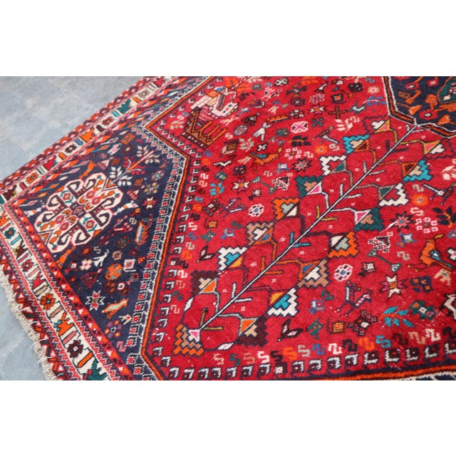 "1970's Persian Qashqai Area Rug-6'4'x9'4"" For Sale In Orlando - Image 6 of 10"