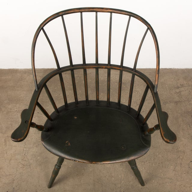 18th Century Antique Windsor Chair With Extended Arms For Sale - Image 12 of 13