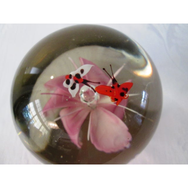 Pink Orchid Glass Paperweight - Image 3 of 5