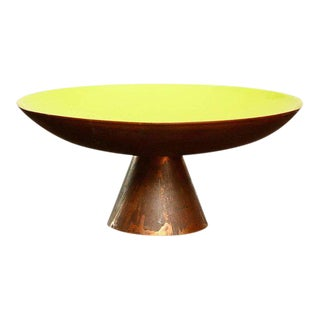 Mid-Century Modern Enamel Copper Dish For Sale