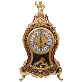 French Boulle Clock For Sale