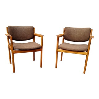 Scandiline Rosewood Armchairs - A Pair For Sale