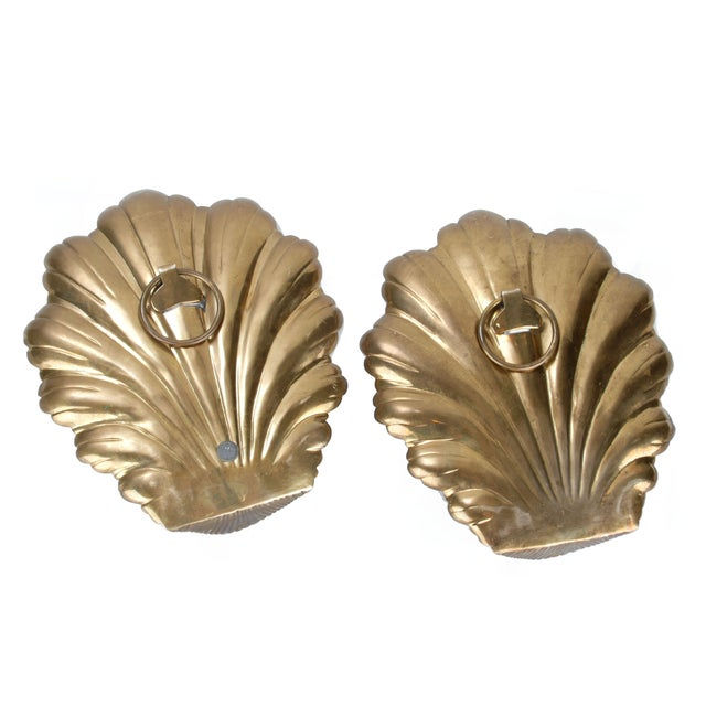 Brass Candle Wall Sconces - Pair - Image 6 of 8