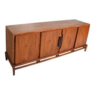 Rare Mid Century Modern Dresser by Helen Hobey for Baker, Walnut, Burl & Rosewood For Sale