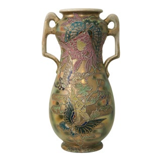 Early 20th Century Japanese Satsuma Enameled Floor Vase For Sale