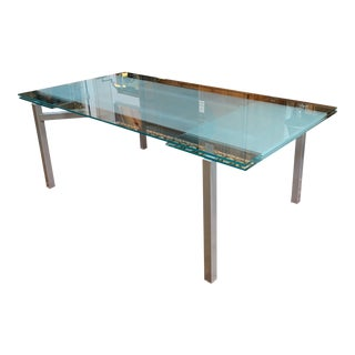 Hikko Glass Extension Dining Table For Sale