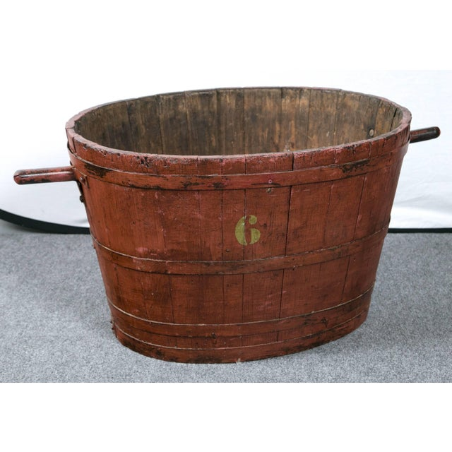 1900 - 1909 French Grape Harvesting Bucket, Circa 1900 For Sale - Image 5 of 6