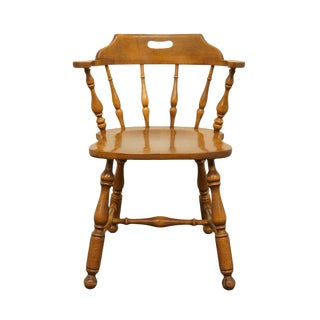 Ethan Allen Heirloom Nutmeg Maple Mate's Chair For Sale