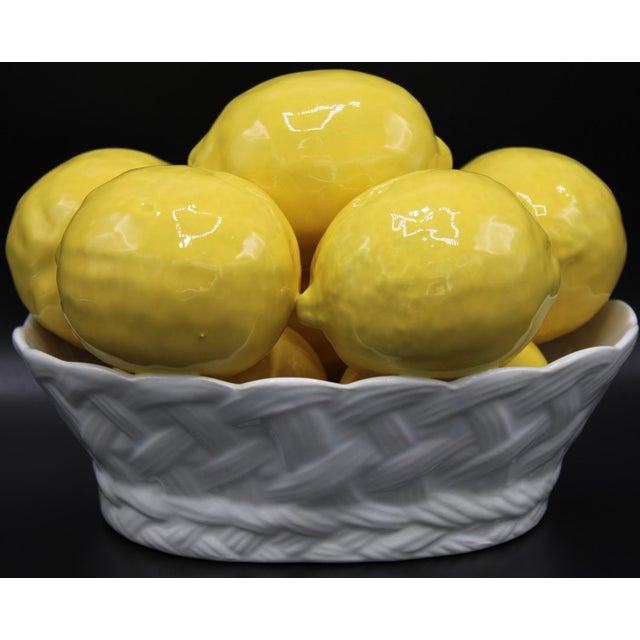 Italian Ceramic Lemon Basket For Sale - Image 9 of 9