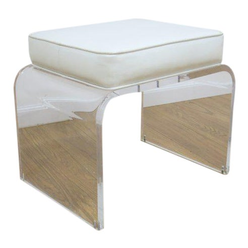 Shlomi Haziza Design Lucite Vanity Stool Chairish