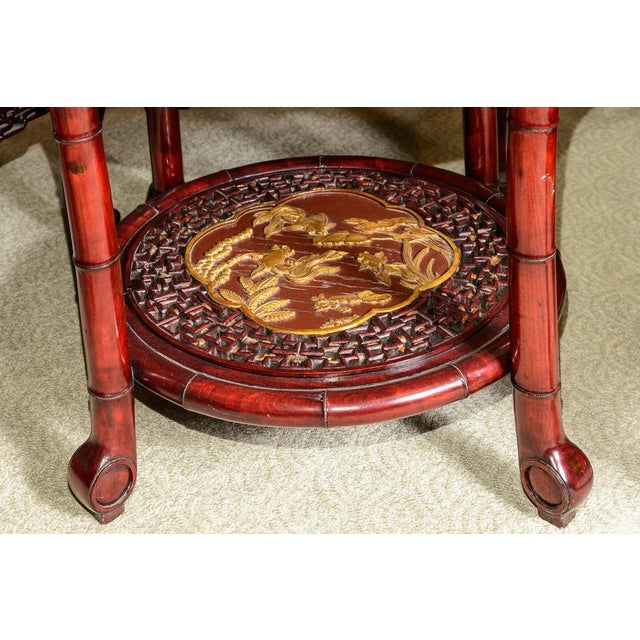 Vintage Chinese Rosewood Table and Four Chairs - Set of 5 For Sale - Image 9 of 10