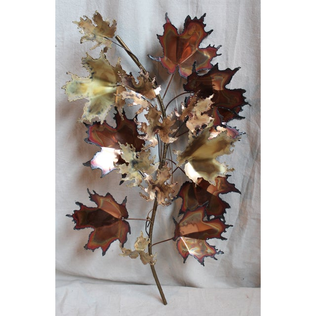 Curtis Jere Autumn Leaves Wall Sculpture - Image 2 of 6