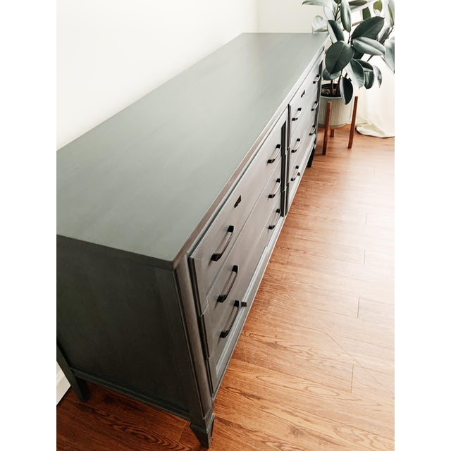 Mid-Century Modern Mid-Century Modern Grey Charcoal Dresser For Sale - Image 3 of 9