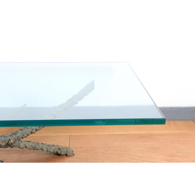 Daniel Gluck 1960's Brutalist Bronze Coffee Table by Daniel Gluck For Sale - Image 4 of 6