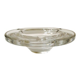 Swedish Mid-Century Modern Crystal Ashtray by Lindstrand for Kosta Boda, 1960's For Sale