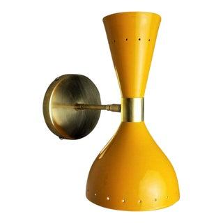 Italian Modern Brass & Enamel Ludo Wall Sconce